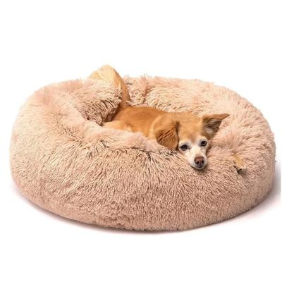 Cama para mascotas de piel sintética 90x10 cm Rosa