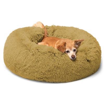 Cama para mascotas de piel sintética 90x10 cm Café