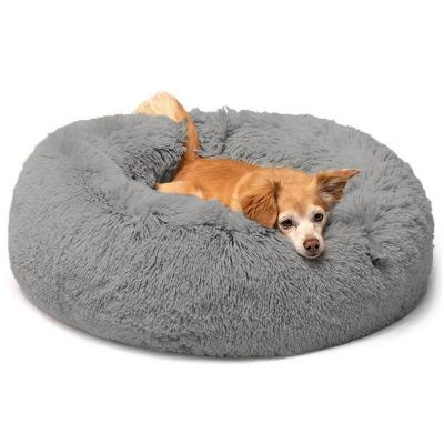 Cama para mascotas de piel sintética 35x15 cm gris