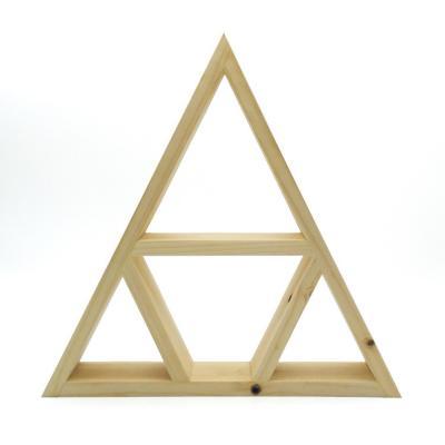 Repisa triangular Altar Místico 40x40x10 cm café