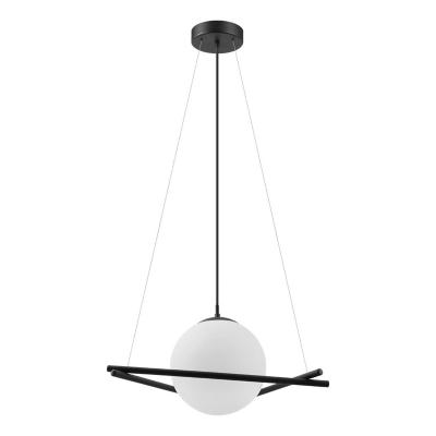 Lámpara colgante acero negro E27 1X25W