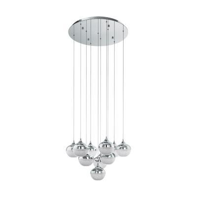 Lámpara colgante acero cromo LED 10X3,15W