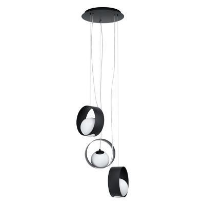 Lámpara colgante acero negro E14 3X40W