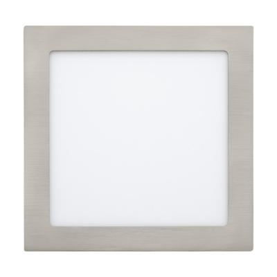 Foco embutido metal niquel satinado LED 18W