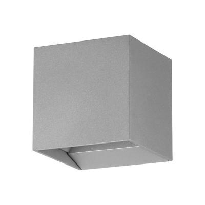 Apliqué acero gris LED 2X4W
