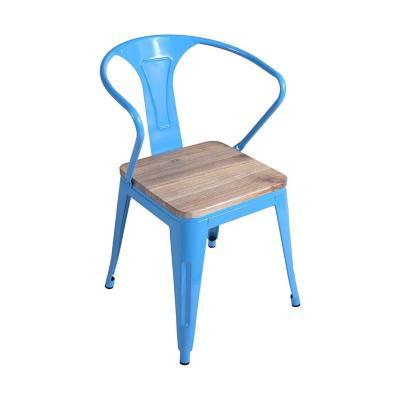Silla de comedor tolix azul 80x53x51 cm