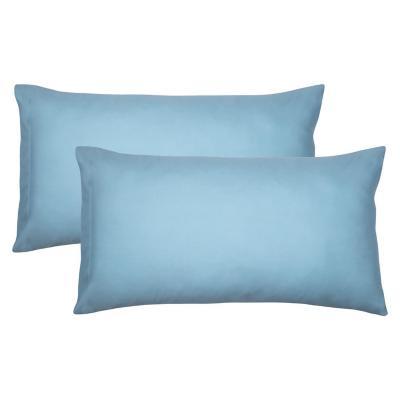 Set funda de almohadas turquesa 51x91 cm