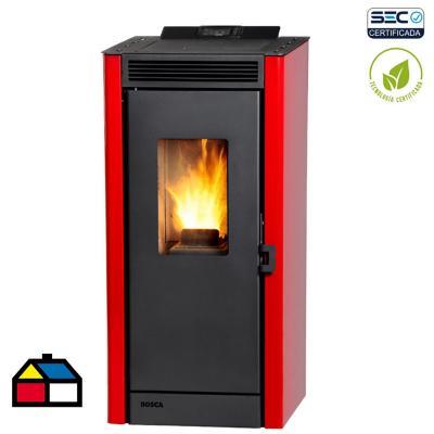 Calefactor pellet rojo