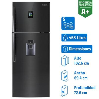 Refrigerador no frost top mount freezer 468 litros