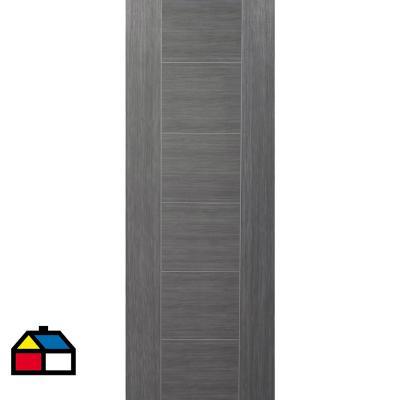 Puerta HDF amparo silver 80x200 cm