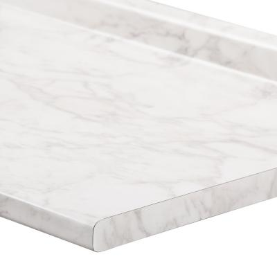 Cubierta postformada 240x62 cm marmol blanco