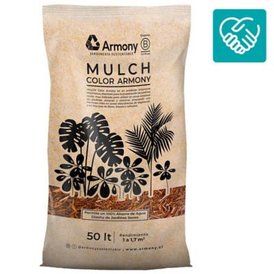 Pack 5 mulch chip rojo 50 l