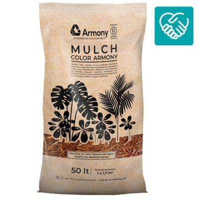 Pack 20 mulch chip rojo 50 l