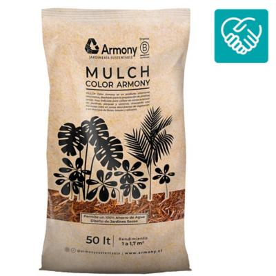 Pack 5 mulch chip café 50 l