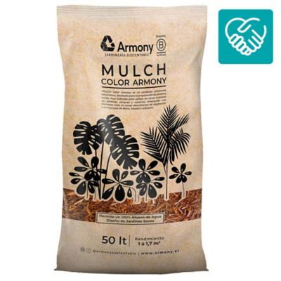 Pack 20 mulch chip amarillo 50 l
