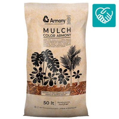 Mulch chip color natural 50 l