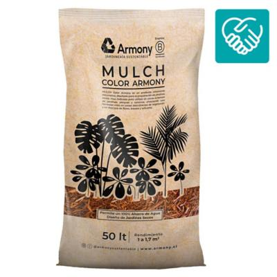 Pack 5 mulch chip amarillo 50 l