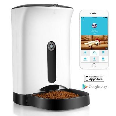 Dispensador alimento Automático mascota + cámara