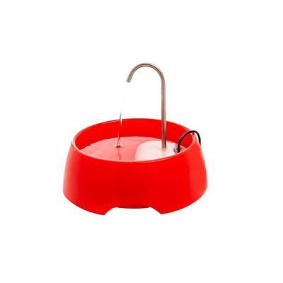 Dispensador de agua mascotas eléctrico rojo