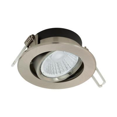 Foco embutido aluminio niquel satinado LED 6W