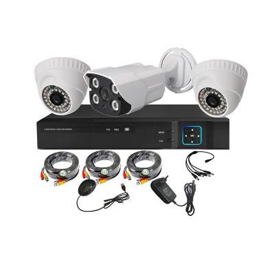 Kit 3 cámaras de seguridad + Xvr 4Ch HD 1mp