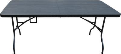 Mesa plegable negra 180 cm