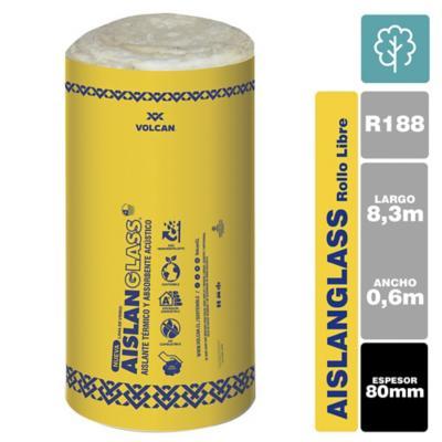 Lana de vidrio R188 libre 80mm 1,2x8,33m 1 rollo