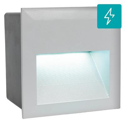 Foco embutido aluminio plateado LED 3,7W