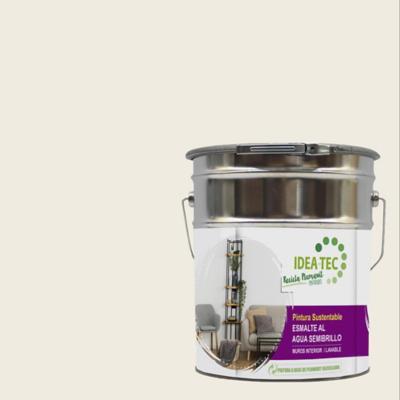 Esmalte al agua blanco hueso sustentable 5 galones