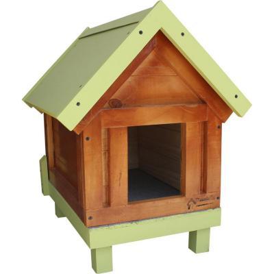 Casa para perro pequeña 30x60x50 cm verde