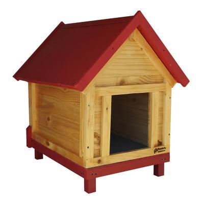 Casa para perro mediana 50x80x70 cm rojo
