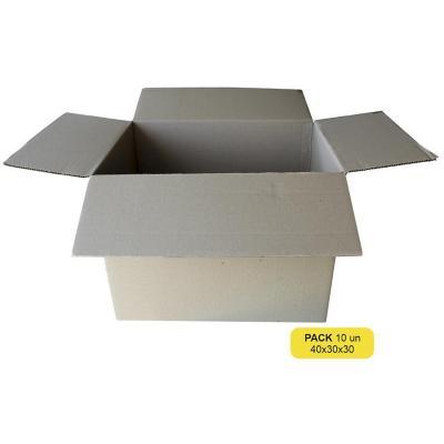 Pack 10 unidades caja de cartón 30x30x40 cm
