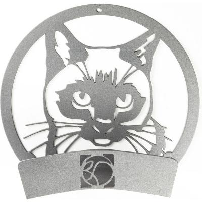 Colgador de manguera acero gato 33x33x15 cm gris