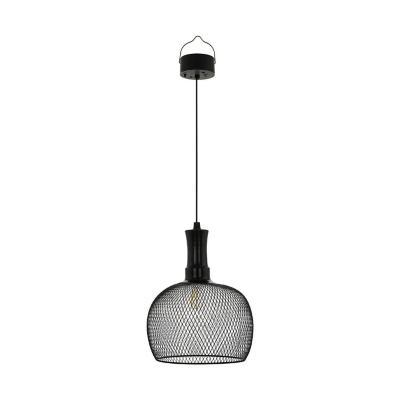 Lámpara solar acero negro LED 1X1W