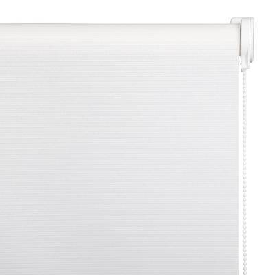 Cortina Natural Enrollable Con Instalación Blanca  A La Medida Ancho Entre 30 a 100 Cm Alto 121 a 130 CM