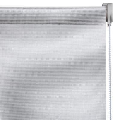 Cortina Enrollable Sunscreen Apertura 20% Gris Instalada  Ancho entre 131 cm a 140 cm Alto 281 cm a 300 cm