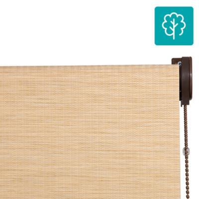 Cortina Bambú Enrollable Con Instalación Amarillo  A La Medida Ancho Entre 30 a 100 cm Alto 131 a 140 cm