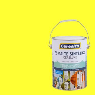 Esmalte sintético amarillo limón 1 galón