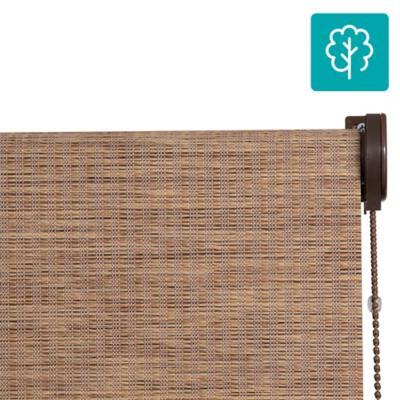 Cortina Bambú Enrollable Con Instalación Chocolate  A La Medida Ancho Entre 241 a 260 Cm Alto 156 a 170 CM