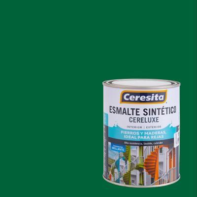 Esmalte sintético verde bosque 1/4 galón