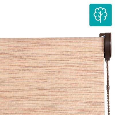 Cortina Bambú Enrollable Con Instalación Rojizo  A La Medida Ancho Entre 181 a 200 Cm Alto 131 a 140 CM