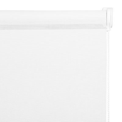 Cortina Enrollable Sunscreen Apertura 20% Blanco Instalada  Ancho entre 121 cm a 130 cm Alto 201 cm a 220 cm