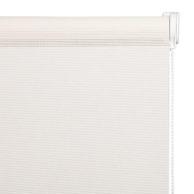 Cortina Enrollable Sunscreen Apertura 20% Beige Instalada  Ancho entre 321 cm a 340 cm Alto 101 cm a 135 cm