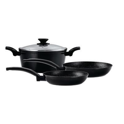 Batería de cocina 4 piezas aluminio negro