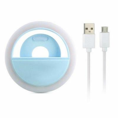 Aro de Luz Led para Selfie Azul Carga USB 8x3x8 cm