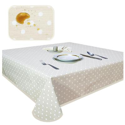 Mantel lun beige antimancha rectagular 180x400 cm