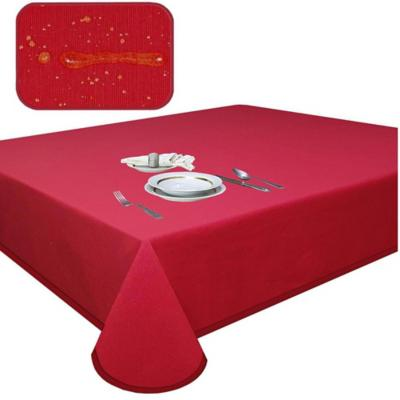 Mantel elegant rojo antimancha cuadrado 180x180 cm