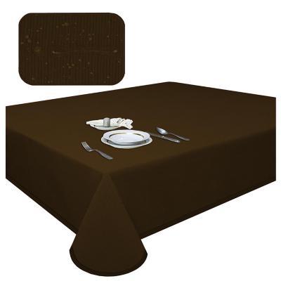Mantel elegant café antimancha redondo 160 cm