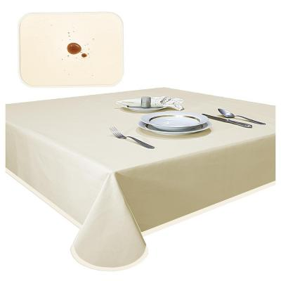Mantel elegant beige antimancha redondo 180 cm