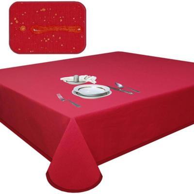 Mantel elegant rojo antimancha rectagular 180x270